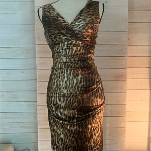 Cache Animal Print Dress - Size 0
